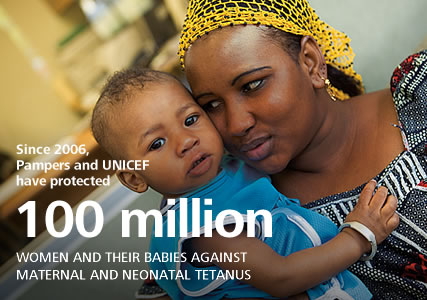 Since 2006, 45.5 million women and their babies protected against maternal and neonatal tetanus